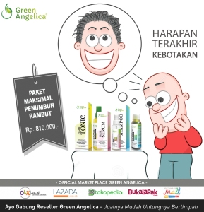vitamin penumbuh rambut botak, green angelica hair serum